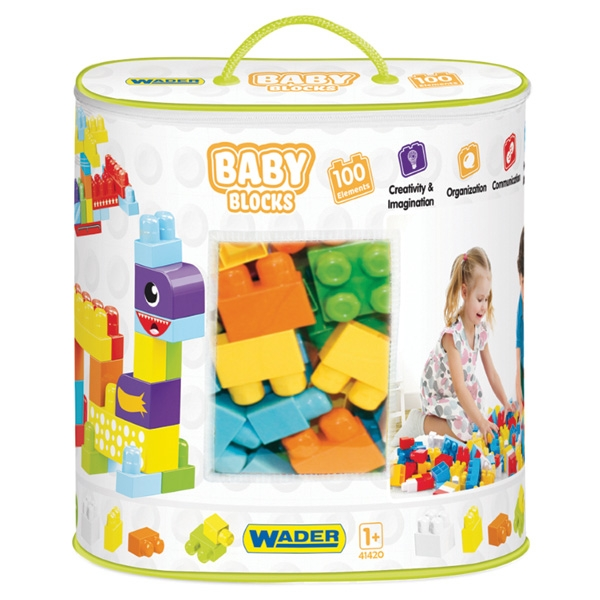 WADER 41420 Kocky baby blocks 100 ks