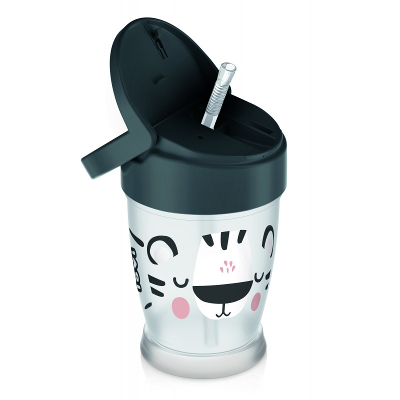 LOVI Hrnček so slamkou Salt&Pepper Junior 250 ml