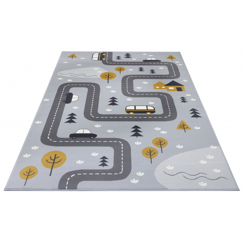 Hanse Home Adventures 104535 Grey/mustard 80x150